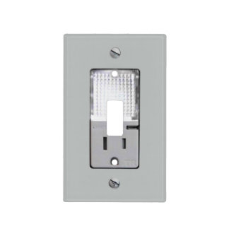 Mercado eléctrico con la luz de la noche tapas para interruptores