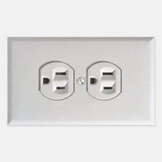 Mercado eléctrico de la emergencia pegatina rectangular