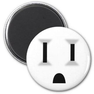 Mercado eléctrico divertido iman
