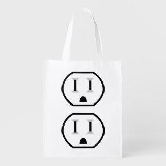Mercado eléctrico divertido (ningún esquema) bolsas para la compra