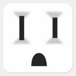 Mercado eléctrico divertido pegatina cuadradas personalizadas