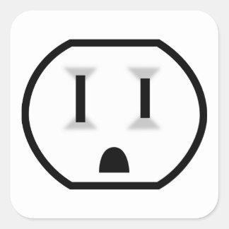Mercado eléctrico divertido pegatina cuadrada