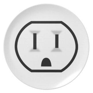 Mercado eléctrico divertido platos