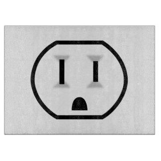 Mercado eléctrico divertido tabla de cortar