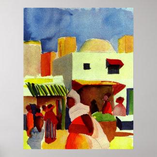 Mercado en Algier Póster