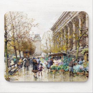 Mercado en la Madeleine, París de la flor Tapete De Ratones