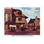 Mercado en Normandía de Theodore Rousseau Postales
