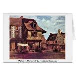 Mercado en Normandía de Theodore Rousseau Tarjetón