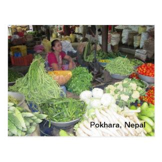 Mercado en Pokhara Tarjetas Postales