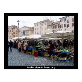Mercado en Roma, Italia Postales