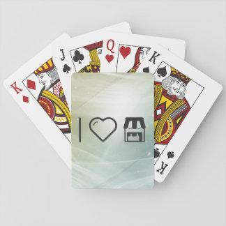 Mercado fresco cartas de póquer
