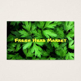 Mercado fresco de la hierba tarjetas de visita