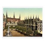 Mercado I., foto magnífica de Lubeck, Alemania Tarjeta Postal