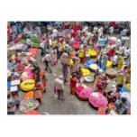 Mercado indio colorido de la flor en Bangalore la Postal