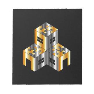 mercado inmobiliario con el tejado del bloc de papel