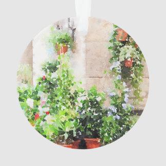 Mercado italiano de la flor de la acuarela