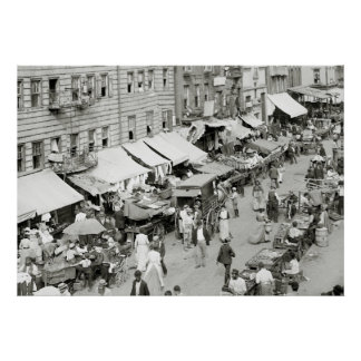 Mercado judío, NYC, 1890s Póster