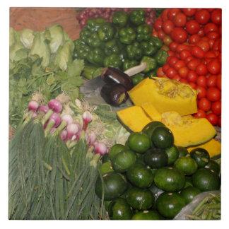 Mercado mezclado de la cosecha del jardín maduro azulejo cuadrado grande