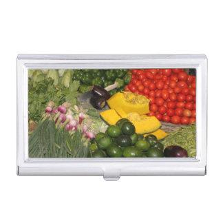 Mercado mezclado de la cosecha del jardín maduro caja de tarjetas de presentación