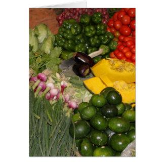 Mercado mezclado de la cosecha del jardín maduro tarjeta pequeña