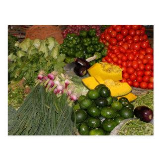 Mercado mezclado de la cosecha del jardín maduro tarjetas postales