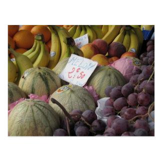 Mercado parisiense tarjeta postal