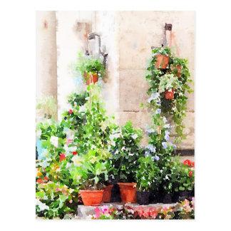 Mercado pintado acuarela italiana de la flor