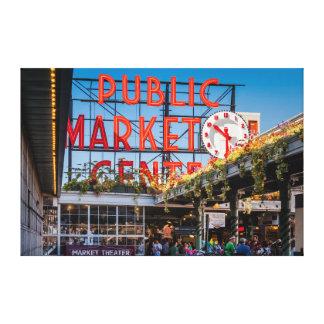 Mercado público del lugar de Pike Impresión En Lienzo