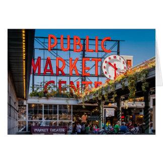 Mercado público del lugar de Pike Tarjeta De Felicitación