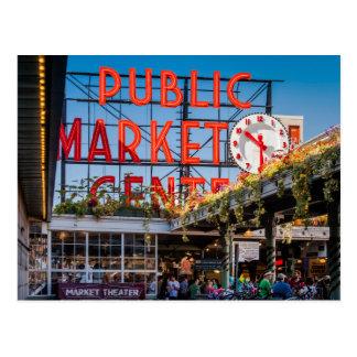 Mercado público del lugar de Pike Tarjetas Postales