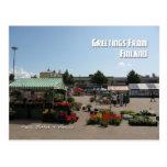 Mercado público en Hamina, Finlandia Postales