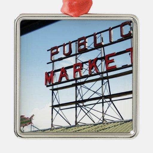 Mercado público ornamento para arbol de navidad