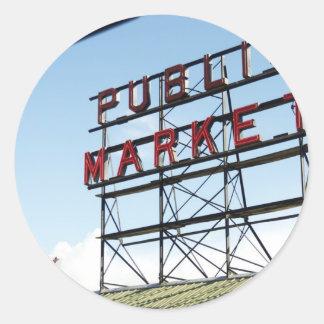 Mercado público pegatina redonda