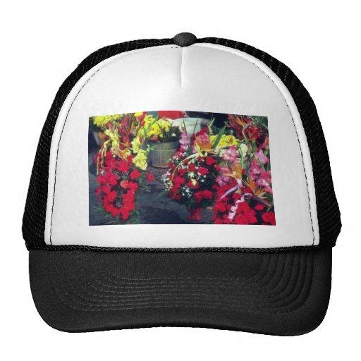 Mercado rojo de la flor, flores de Lima Gorro