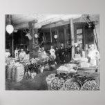 Mercado salvaje del juego y de los mariscos, 1895 impresiones