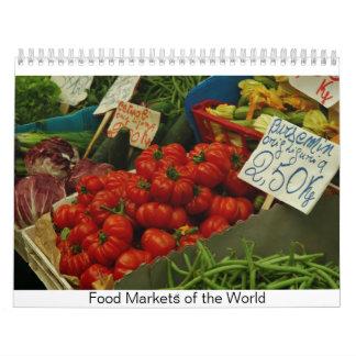 Mercados de la comida del mundo calendario