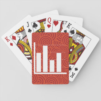 Mercados educativos gráficos cartas de juego