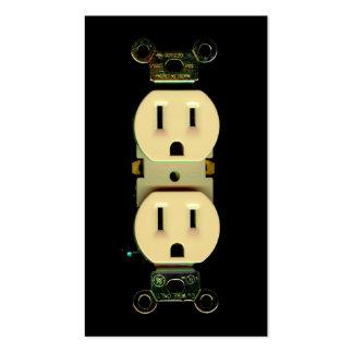 Mercados eléctricos de la compañía eléctrica del e tarjetas de visita