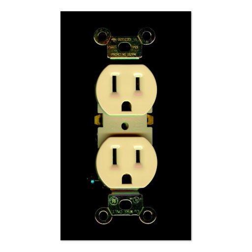 Mercados eléctricos de la compañía eléctrica del tarjetas de visita