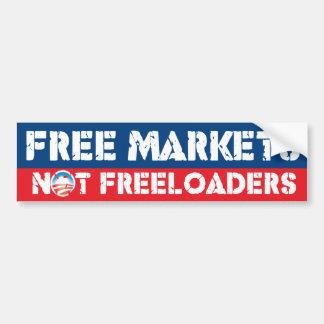 Mercados libres - no Freeloaders Etiqueta De Parachoque