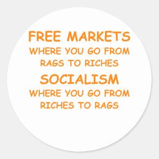 mercados libres pegatinas redondas