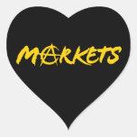 Mercados Pegatinas Corazon Personalizadas