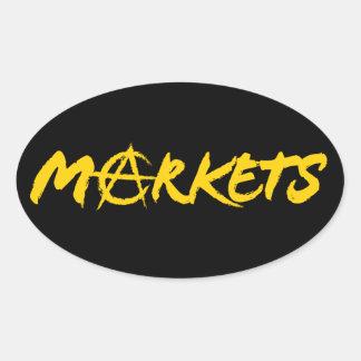 Mercados Pegatinas Oval Personalizadas