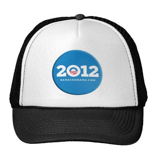 Mercancía 2012 del botón de Obama Gorro De Camionero