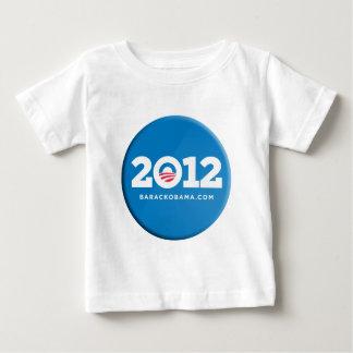 Mercancía 2012 del botón de Obama Playera De Bebé