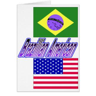 mercancía americana brazillian tarjeta de felicitación