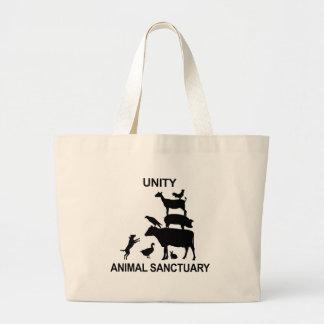 Mercancía animal del santuario de la unidad bolsa tela grande