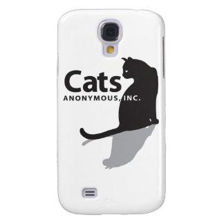 Mercancía anónima del logotipo de los gatos funda para galaxy s4