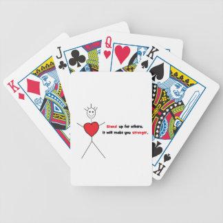 Mercancía anti del matón baraja cartas de poker