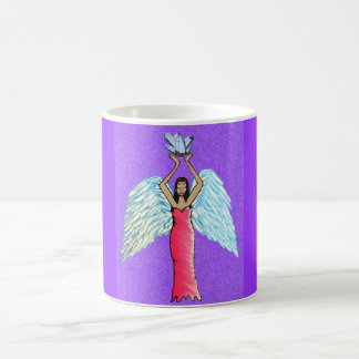 Mercancía cristalina del ángel taza